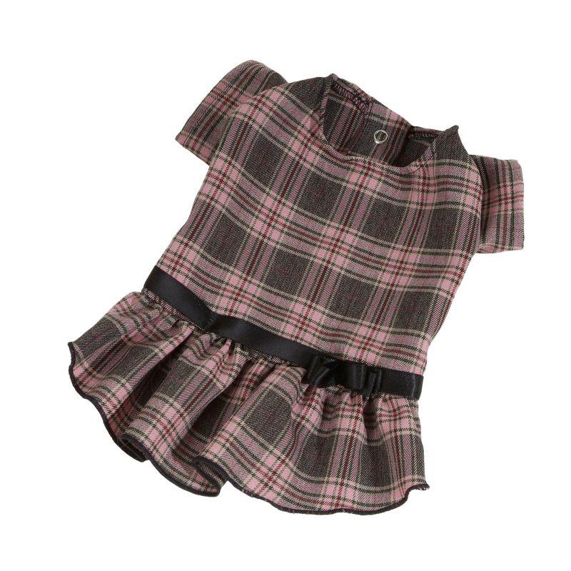 Šaty kostka - tmavě šedá (doprodej skladových zásob) XS I love pets