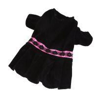 Šaty plyš (doprodej skladových zásob) - černá XXS