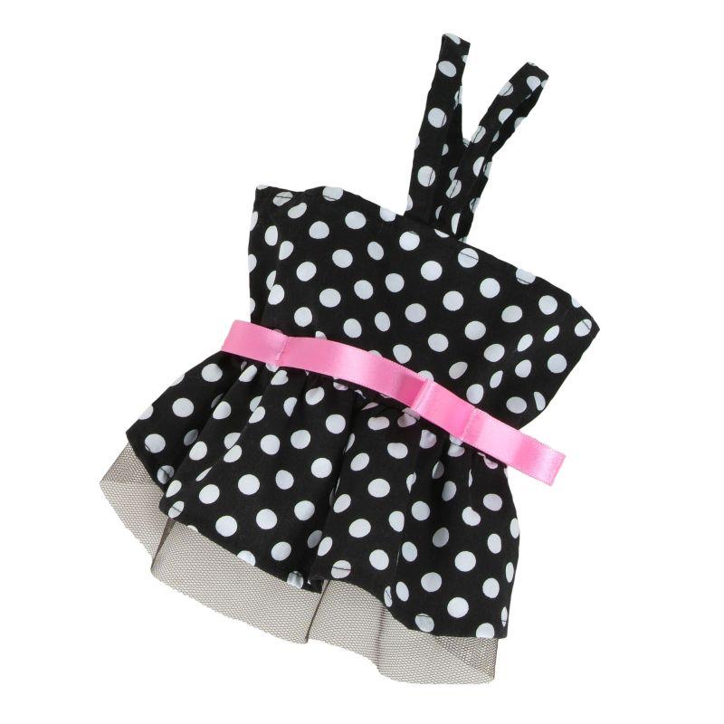 Šaty puntíkované (doprodej skladových zásob) - černá S I love pets