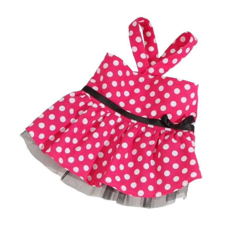 Šaty puntíkované (doprodej skladových zásob) - růžová L I love pets