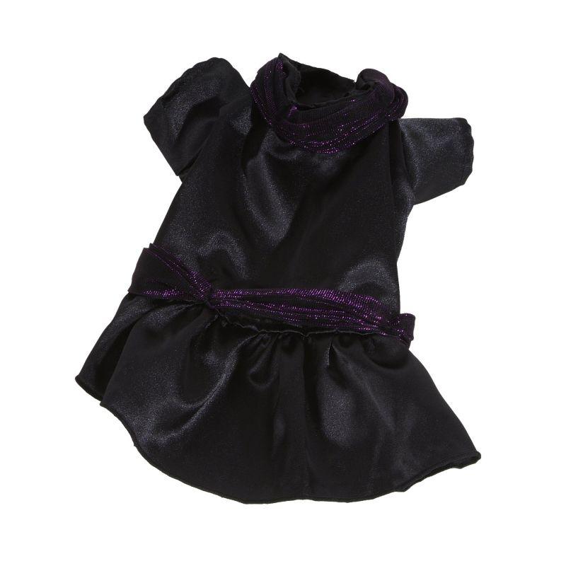 Šaty společenské - černá (doprodej skladových zásob) S I love pets