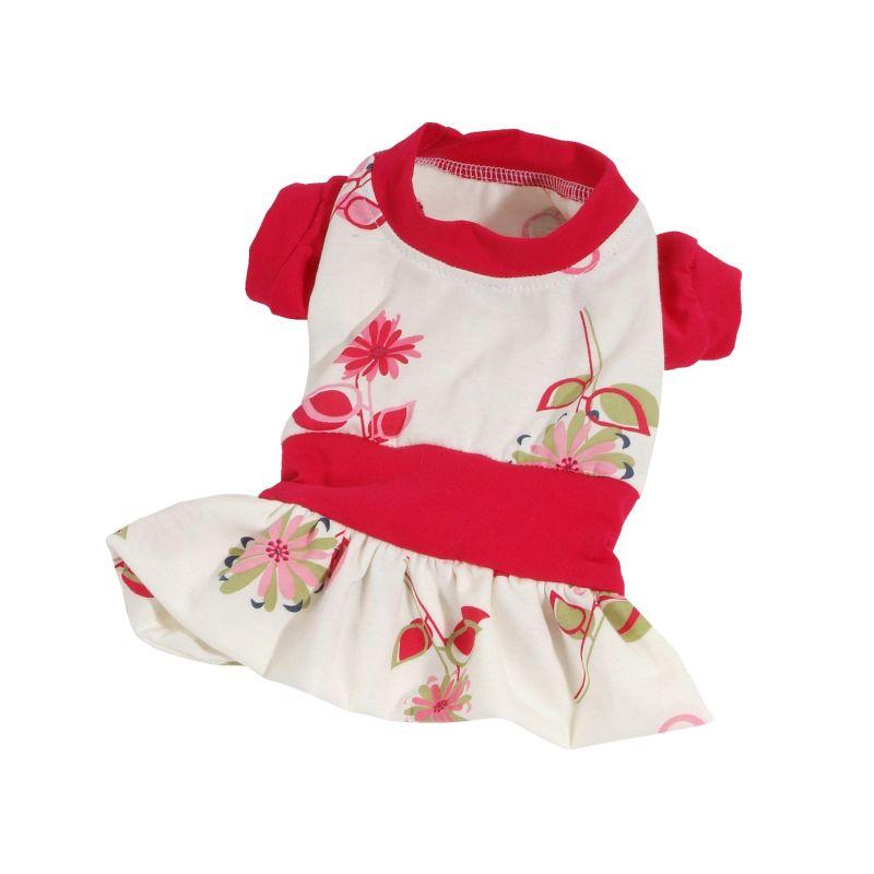 Šaty Summer (doprodej skladových zásob) - červená XS I love pets