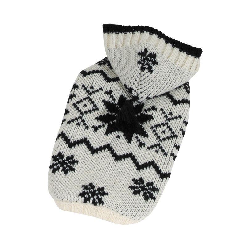 Svetr Norsko s kapucí - bílá/černá M I love pets