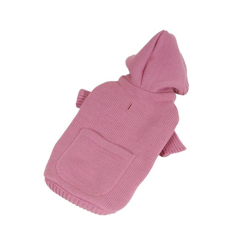 Svetr s kapsou - růžová S I love pets
