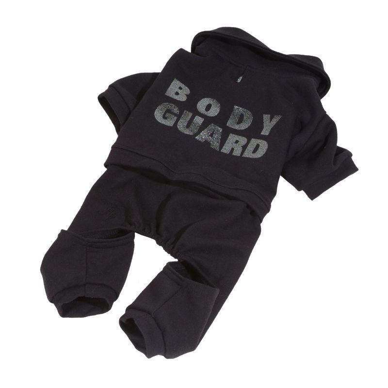 Teplákovka bodyguard - černá L I love pets