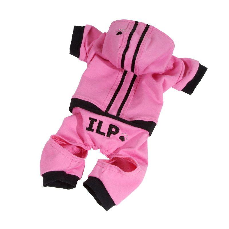 Teplákovka s pruhy (doprodej skladových zásob) - růžová XXS I love pets