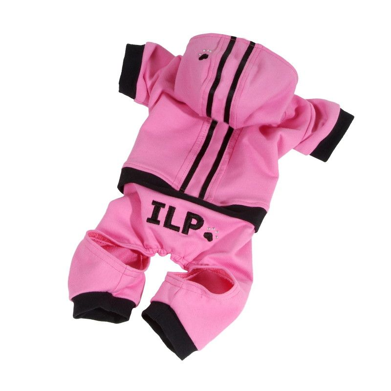 Teplákovka s pruhy (doprodej skladových zásob) - růžová XL I love pets