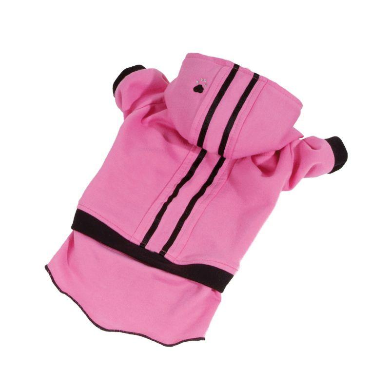 Teplákovka se sukní - růžová (doprodej skladových zásob) L I love pets