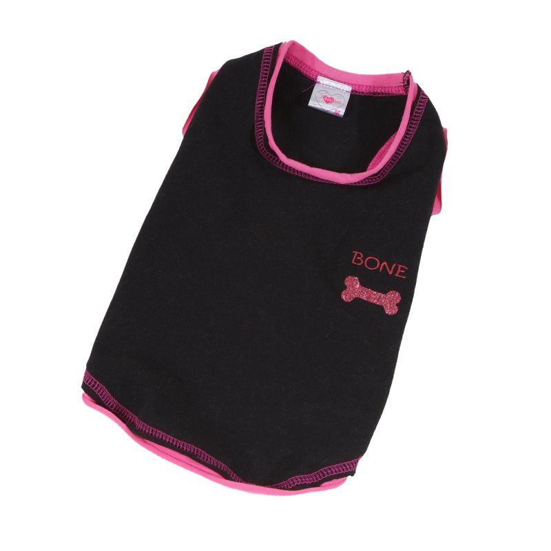 Tričko Bone - černá (doprodej skladových zásob) XXS I love pets