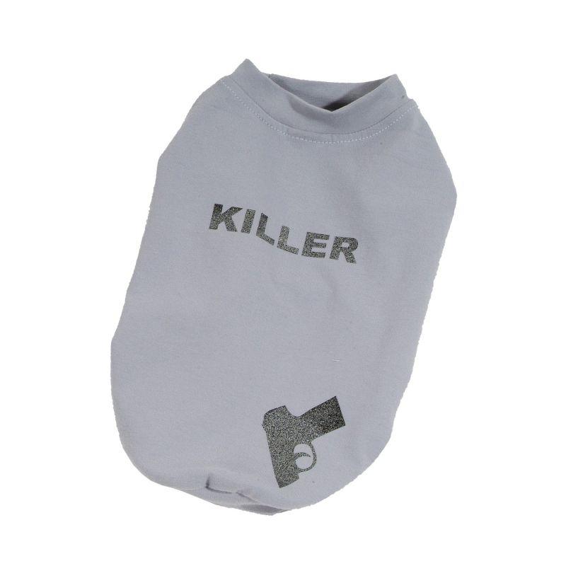 Tričko Killer - šedá XS I love pets