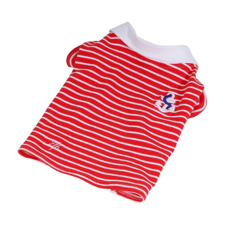 Tričko námořnické s límečkem (doprodej skladových zásob) - červená XXS I love pets