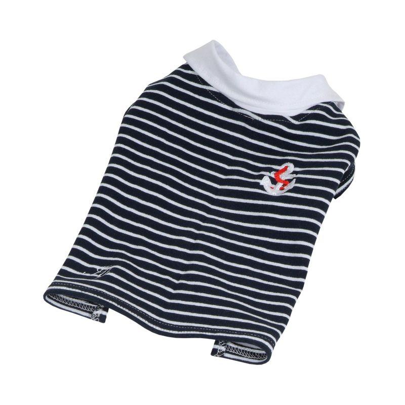 Tričko námořnické s límečkem (doprodej skladových zásob) - modrá L I love pets