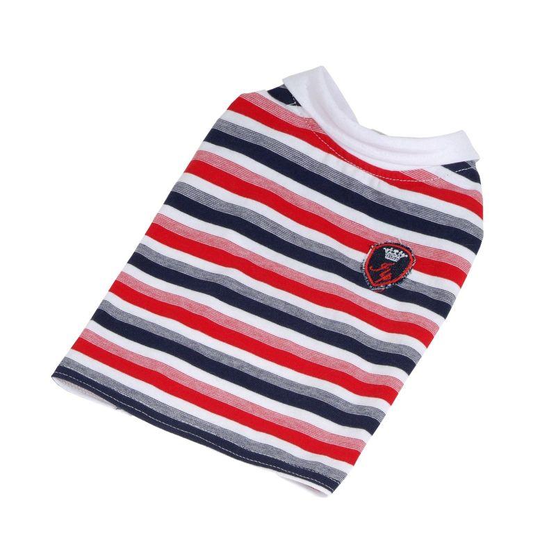 Tričko pruhované s erbem (doprodej skladových zásob) - červená/modrá XL I love pets