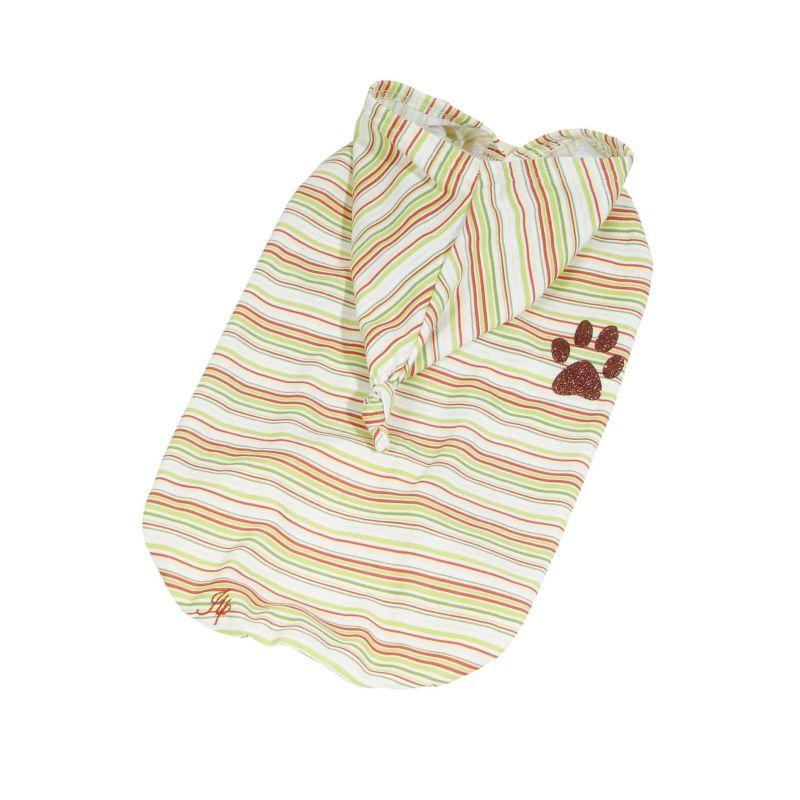 Tričko pruhované s kapucí - žlutá (doprodej skladových zásob) XXL I love pets