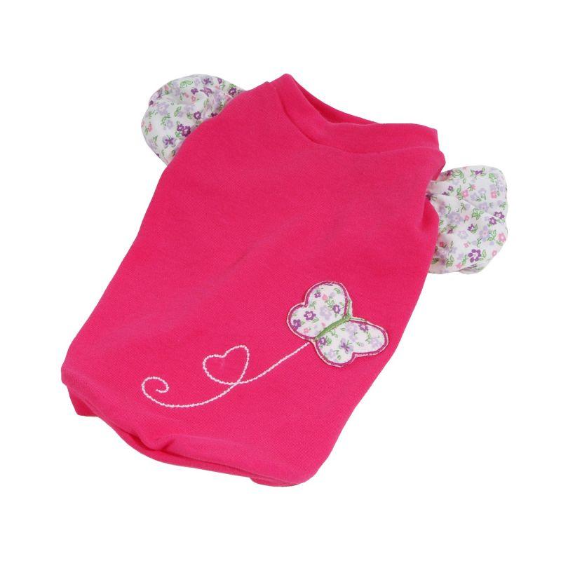 Tričko Spring (doprodej skladových zásob) - tmavě růžová XS I love pets