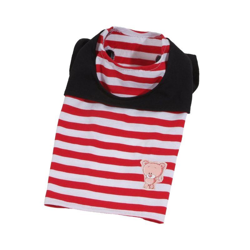 Tričko Teddy - červená (doprodej skladových zásob) XL I love pets