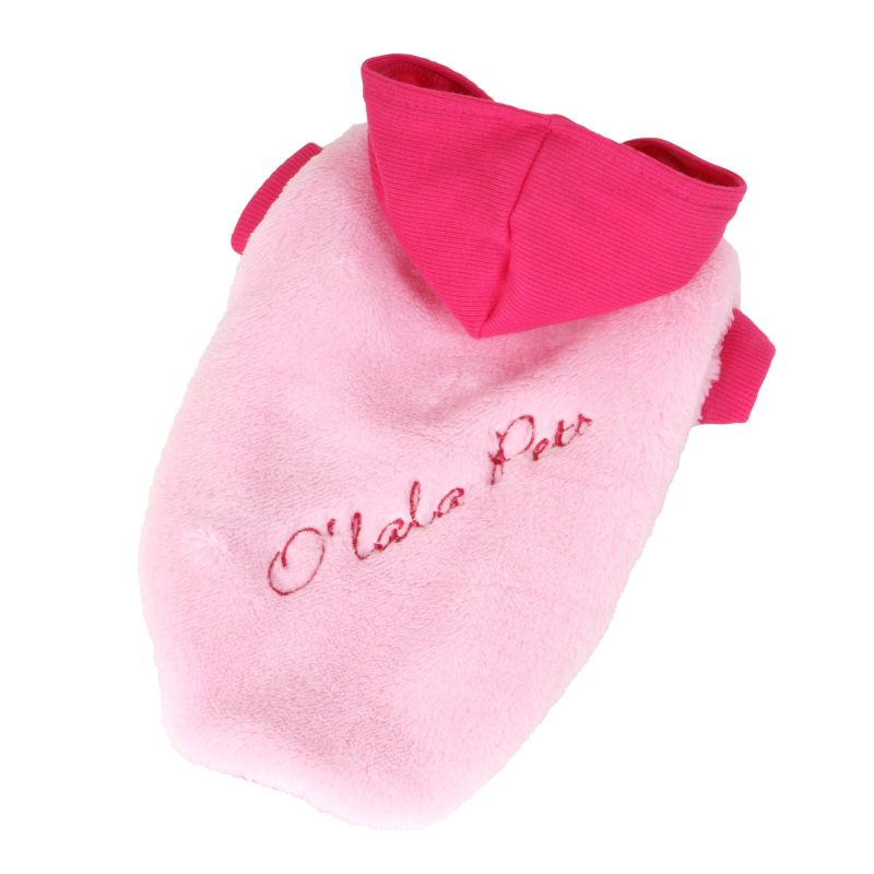 Bunda Fluffy - růžová M I love pets