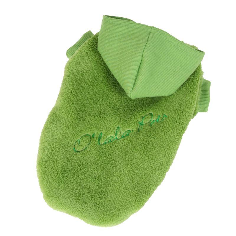 Bunda Fluffy - zelená M I love pets