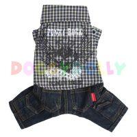 Kalhoty s košilí Doggydolly Punky tmavě modrá L