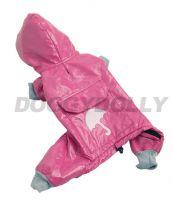 Lehká pláštěnka Doggydolly tmavě růžová XXS