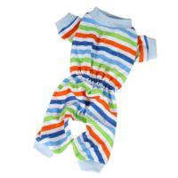 Pyžamo proužek (doprodej skladových zásob) - modrá XS