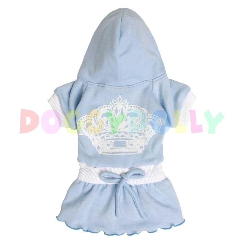 Šaty Doggydolly modré s korunkou XS