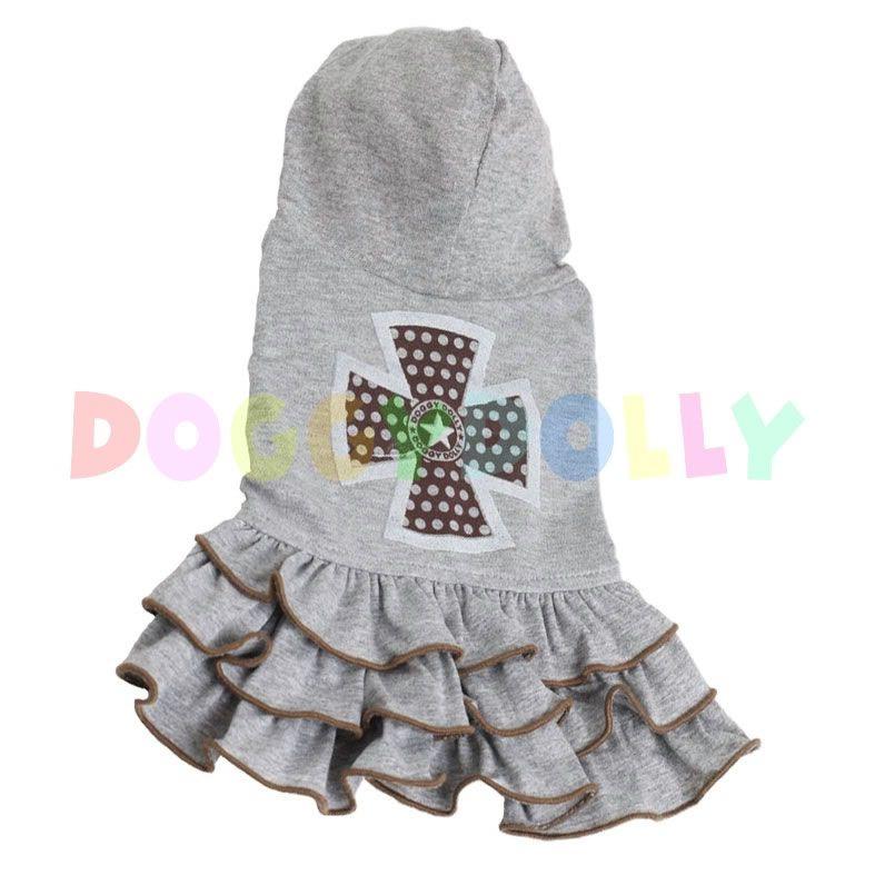 Šaty Doggydolly šedé s křížem L
