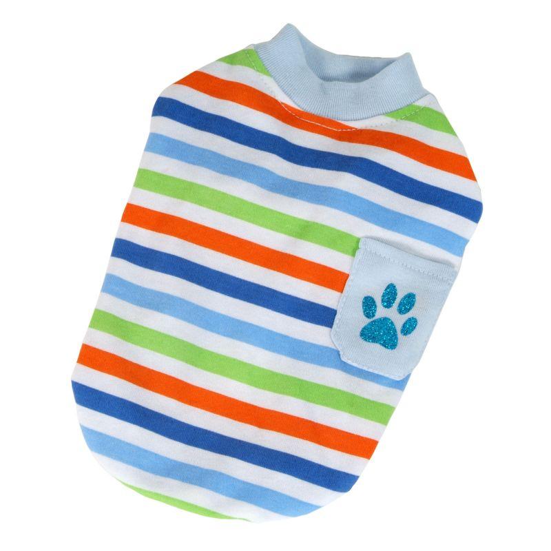 Tričko proužek s kapsou (doprodej skladových zásob) - modrá XXL I love pets
