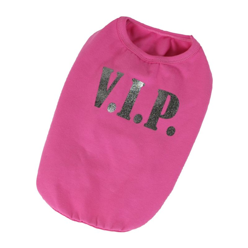 Tričko VIP - růžová M I love pets