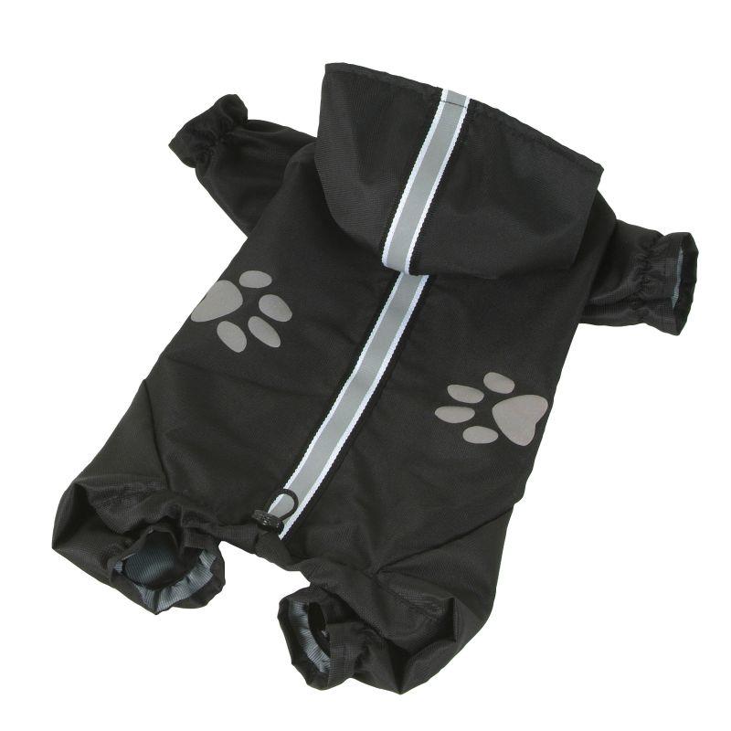 Kombinéza lehká šusťáková reflex - černá XXS I love pets