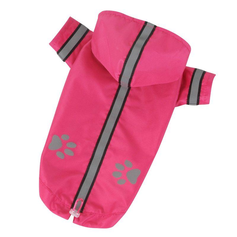Bunda lehká šusťáková reflex - růžová XS I love pets