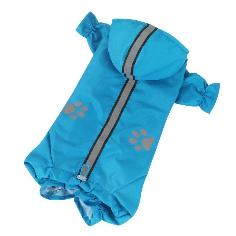 Kombinéza lehká šusťáková reflex - modrá XL I love pets