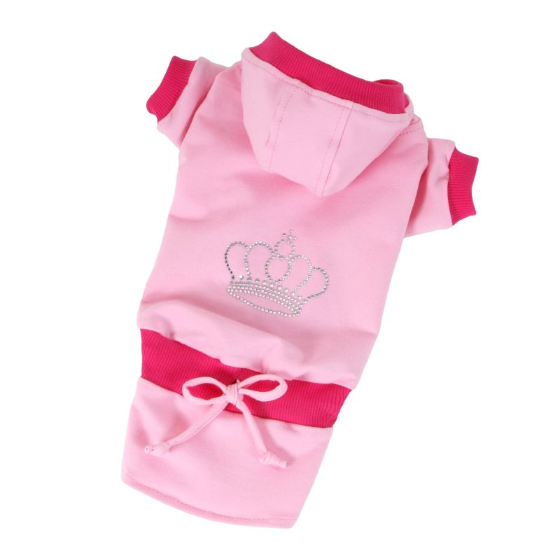 Teplákovka se sukní Crown - růžová S I love pets