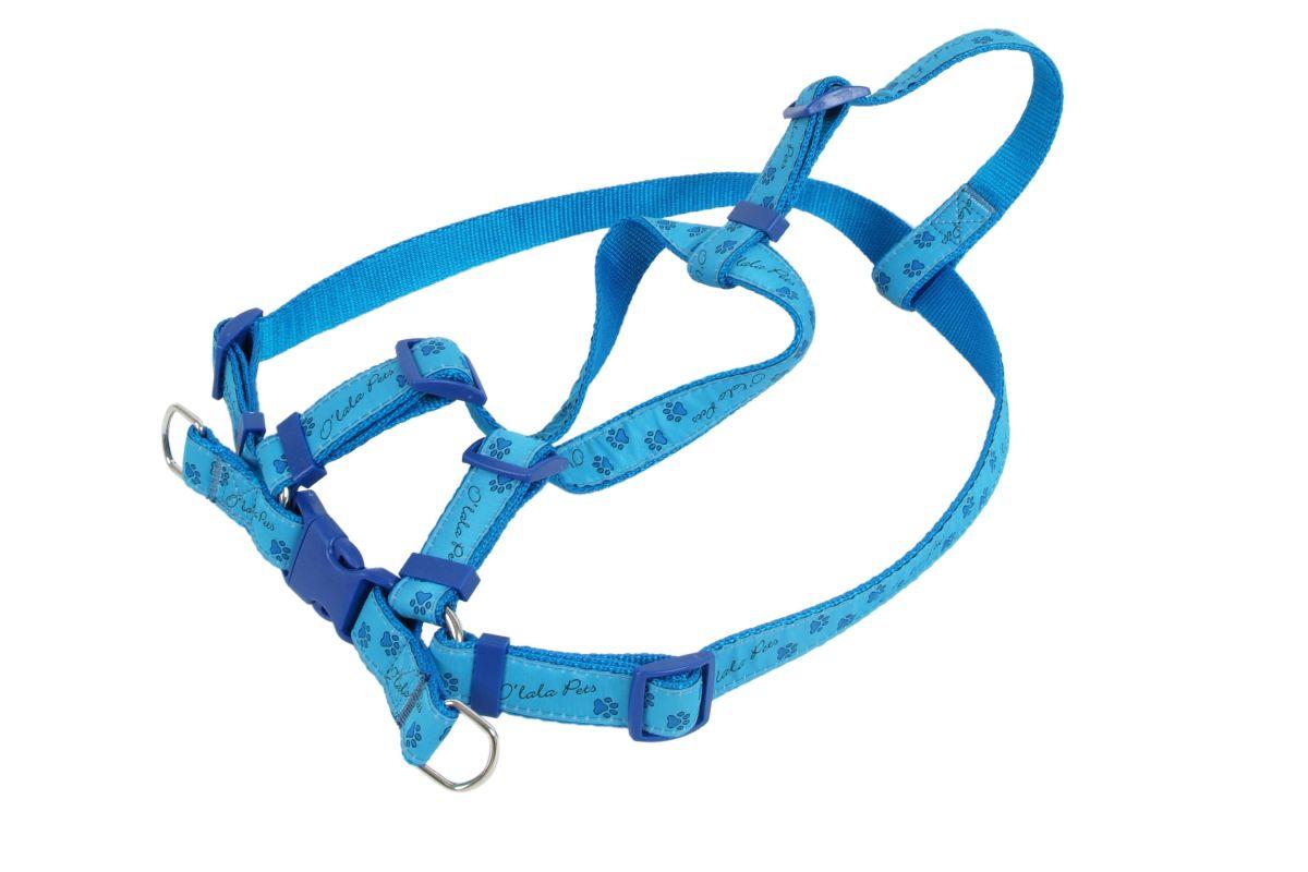 Kšíry TLAPKY 25 mm x 58-90 cm modrá I love pets
