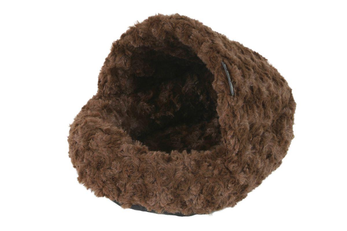Pelíšek hlodavci Papuče Fuzzy hnědá I love pets