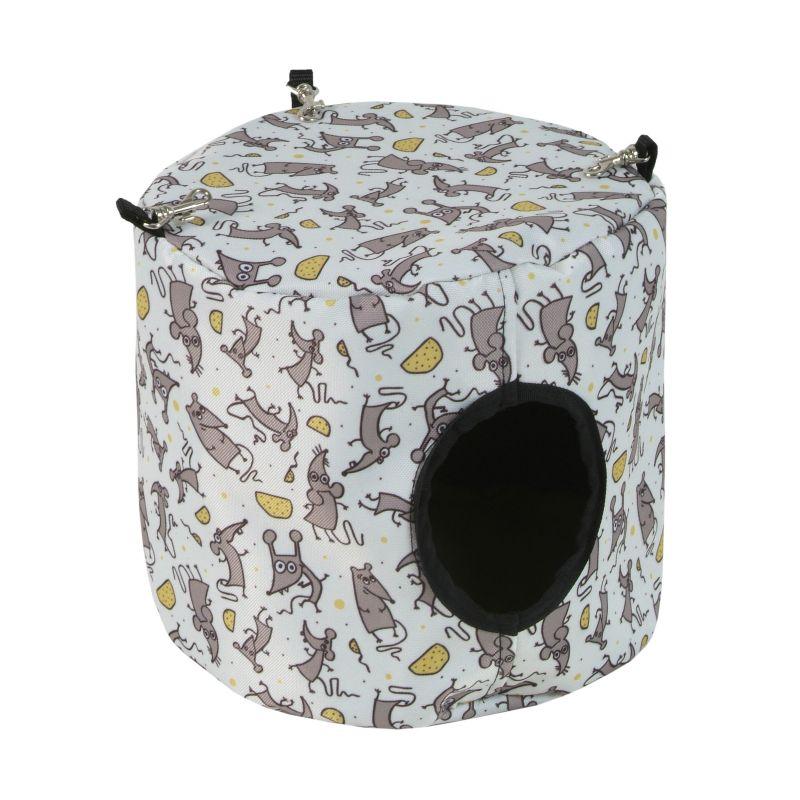 Závěsný domeček pro hlodavce 15 x 15 cm myška I love pets