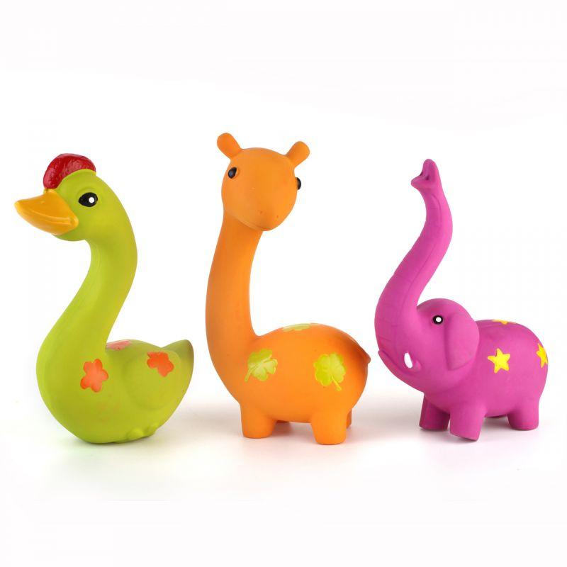 Pískací latexová hračka pro psa – veselé zvířátko I love pets - import
