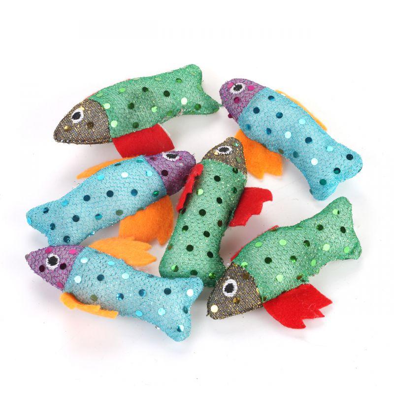 Rybka s třpytkami – hračka pro kočky se šantou I love pets - import
