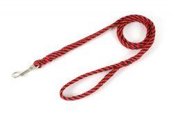 Vodítko lanové ploché 10 mm x 150 cm červená