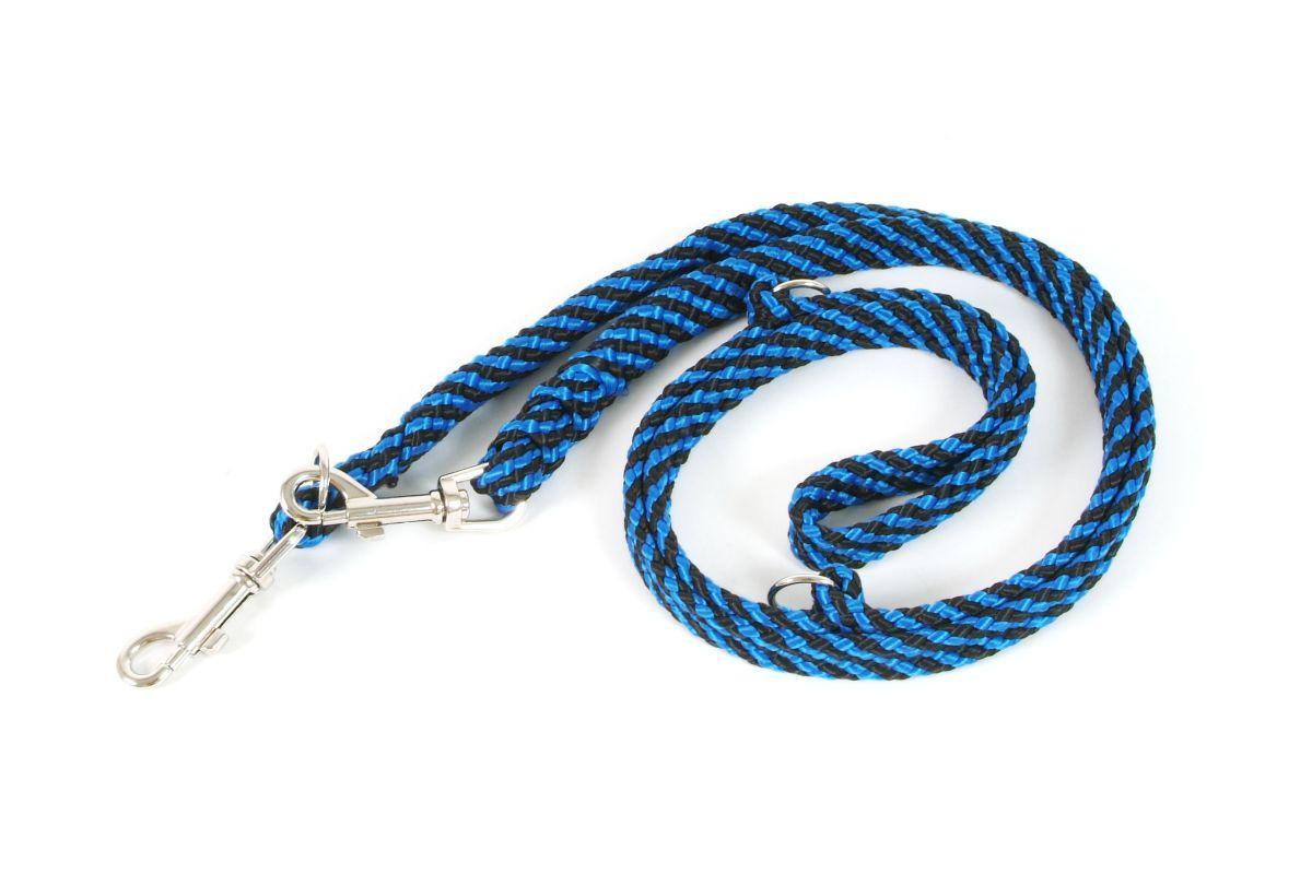 Vodítko přepínací ploché 10 mm x 200 cm modrá I love pets