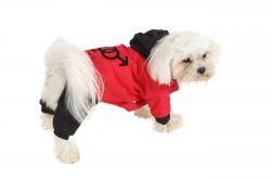 Kombinéza odepínatelné nohavice - červená XS I love pets