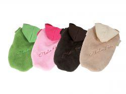 Bunda Fluffy - růžová XS I love pets