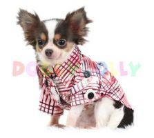 Košile Doggydolly kostkovaná hnědá XL