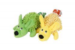 Pískací plyšová hračka pro psa – přetahovalo pejsek slanovým ocáskem